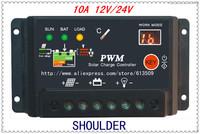 Freeshipping New 12V/24V Autoswitch Cheap Solar Panel Charge Controller 10A Solar Charge Controller Regulators
