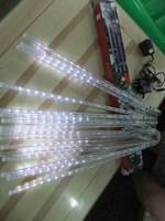 3.5M long 144 LED 8 * 30cm tubes LED Meteor shower tube lights, Fake double sided, Xmas Decoration ,2 set/lot,Free Drop shipping