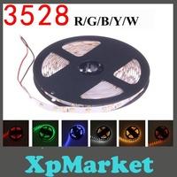 New 3528 5M 60led/m 300 12V SMD LED Strip Single Color Free Shipping