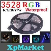 New 3528 5M 16.4ft 300LEDs Waterproof RGB LED  Strip Free Shipping