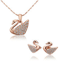 18K Real Gold plated Fashion Jewelry Set With Crystal Stellux Top Quality 18K Gold Plated Women Jewelry Set,Nickel Free!S323
