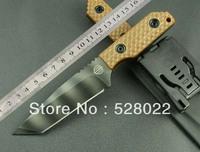 HK FREE SHIPPING GG ST tiger survival tactics straight knife samurai sword
