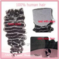 "great hair Free shipping indian Hair closure lace front closure Silk Base Closure(4""*4"" & 4""*5"") Loose wave 8""-22"" natural Color"
