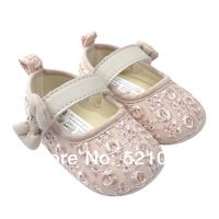 Apricot Princess Shoes Baby Shoes Girls Infant Toddler Soft Sole Prewalker Shoes First Walkers Footwear Newborn shoes 1pair