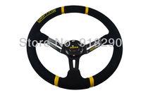 14 inch  MOMO  Deep fish Drifting Steering Wheel  Suede Leather