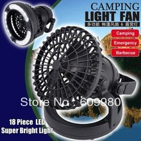 18pcs LED tent light with fan, camping light,emergency light outdoor lighting,Free shipping