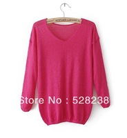 2013 autumn O neck solid  women sweater