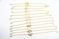 free shipping 12pcs/lot fashion metal thin zodiac thin bracelet 2013 new style