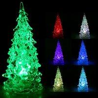 5pcs/ lot Holiday Festival Best Gift RGB Colorful LED Christmas Tree Night Light Christmas Decoration Night Light, Freeshipping