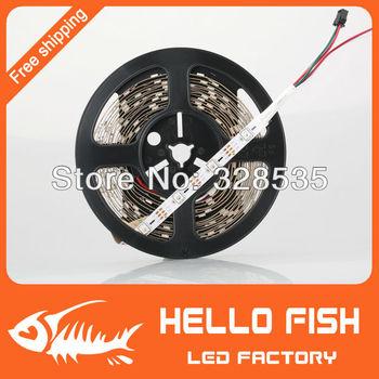 HELLO FISH, 5M Built-in WS2811 LED strip 150 LED 150 pixels Not waterproof Pixel matrix Arduino Display DIY led strip