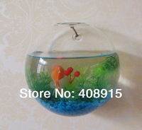 New! A Half Ball Shape Clear Glass Wall Flower Vase, 14cm Glass Tank, home/garden & wall/office decor, 4pcs/ lot, free shipping