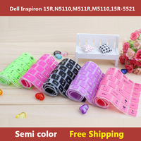 Semi color Keyboard Cover Skin Protector for dell New Inspiron 15R,N5110,M511R,M5110,15R-5521