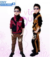 Free Shipping New season design children wear clothes 2 pcs set  Autumn and Spring wear  long sleeve  Jacket and long pants