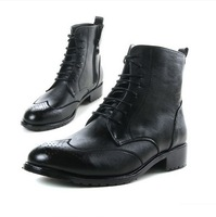Free Shipping 2014 Fashion Men's Winter Boots, Leather Boots, Male Snow Shoes Martin Boots 2066