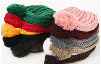 2013 new classic twist pattern wool cap simple hat autumn winter knitting lady beanies hat cute cap free shipping