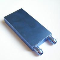 New 2 PCS CPU Water Cooling Block Waterblock Liquid Cooler Aluminium 82*40*12mm free shipping