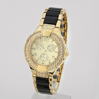 Free shipping 2013 new Design Women Brand Quartz Watch Hot Sell Fashion Clock Woman's  imitated diamonds Dress Hour marks  Free