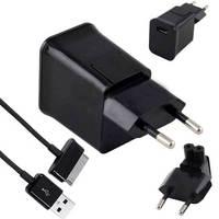EU USB Wall Charger Travel Plug + Data Cable for Samsung Galaxy Tab 10.1 8.9 7.0 P5100 P7510 P7500 P6200 P1000 P3100 P3110 N8000