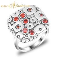 2014 new arrival brand aneis femininas silver plated fashion*vintage CZ elegant bridal wedding rings for women accessories R0421