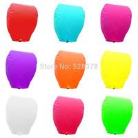 Free shipping 5pcs/lot Factory Sky Lanterns Hearts Muti Color Wishing Lights Lanterns Wedding Halloween Christmas birthday t251