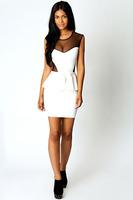 3 Colors Free Shipping New Fashion 2014 Sexy Black Mesh Peplum Dress Novelty Womens Dresses Clubwear LB5161 Plus Size S M L XL