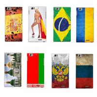 2014 New Design Russian Flag Ukraine Flag Spain Brazil Flag Cover Case for Lenovo K900 Case Cover Free Shipping