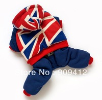 2014 New Colourful Flags Dog Sweatshirt  Warm Pet  Four Legs Suit Dog Clothing Top Quality Free Shipping