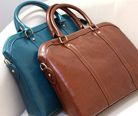 2014 new genuine leather OL butter outfit women's briefcase handbag red black handbag big bags