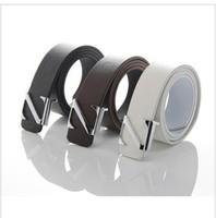 Free shipping  1PCS---Fashion Faux Leather Premium N Shape Metal Mens strap man Ceinture Buckle Belt men's belt  T005