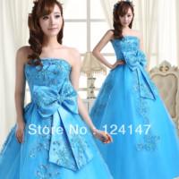 The bride wedding dress multicolour wedding princess tube top wedding dress color