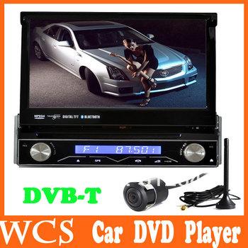 7 Inch1 Din Car MP3 DVD Player GPS Ipod Bluetooth FM /AM/USB/SD DVB-T Back-up Camera Free Shipping Russian Language