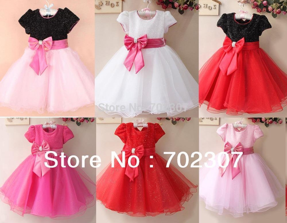 retail Elegant dress ,party baby girl princess clothing free shipping many colors 5684(China (Mainland))