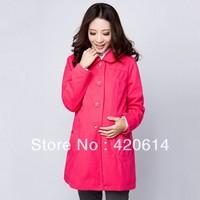 Free shipping 2013 autumn new arrival, Pregnant women Coat, Plus Size maternity  long sleeve MATERNITY coat 2836