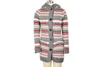 Women Knitwear Thick Winter Hooded Cardigan Coat Loose Sweater Fleece Lined Tops
