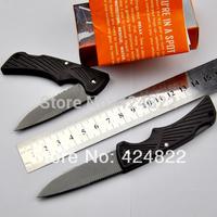 12pcs /lot - 002 Bear folding blade locking blade pocket, hunting, survival knife free shipping +retail box