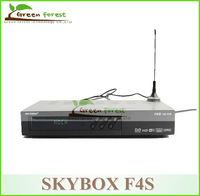 hot sale ! free shipping by fedex Original Skybox F4s HD satellite receiver  GPRS weather forecast function VFD Display decoder