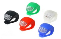 New GEL Silicone Cycling Bike Bicycle LED Front Rear Flash Light Lamp Headlight Rubber Light Free Shipping