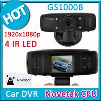 GS1000 NOVATEK Chipset HD1080P 9712 Lens (not 720P Sunplus) Car vehicle Camera Recorder DVR w/G-sensor/4pcs LED/1.5' LCD/GS1000B