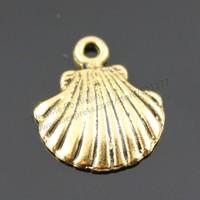 50pcs/lot 18*15mm 3 colors Antique Gold, Antique Silver, Antique Bronze Plated Shell Charms