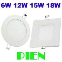 Square 3W/4W/6W/9W/12W/15W/18W led ceiling light cool /warm white AC85-265V panel lamp Free shipping 1pcs/lot