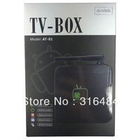 free shipping  Android 4.2  Dual code   auxtek  Dual code   8GB Mini PC Android TV Box Built-in microphone and camera  mini pc