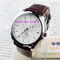The new quartz watch classic fashion brand personality copy code three series belt watch men's watch