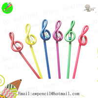 Customized music note shape pencil LH-281,ex-factory price