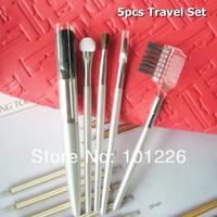Professional 5pcs MINI Travel Makeup Brush Set Comestic Tools Kit Free Shipping