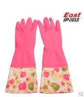 Life83 Household rubber sleeve warm laundry glove(tulip) for kitchen wash bowl dish