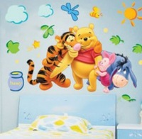 Cheap PVC Cartoon Animal Wall Sticker ,Wall Decal ,Wallpaper, Room Sticker, House Sticker  FREE SHIPPING