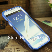Hot sale 7 colors light bumper Aluminum Wavy Pull-out bumper for samsung galaxy note 2 n7100 with retail packaging ferr shipping