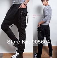 2014 New Fashion Men's Casual Sporty Hip Hop Dance Harem Baggy Sport Sweat Pants Trousers Slack for Men's Jeans Sportswear