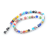 fashion style Turkish Evil Eye beads colorful 6mm lampwork glass charm beads for jewelry wholesale 300pcs/lot Free shipping