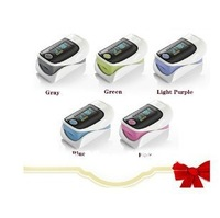 Free Shipping Hot sale Fingertip Pulse Oximeter health care tool LED screen 5 colors